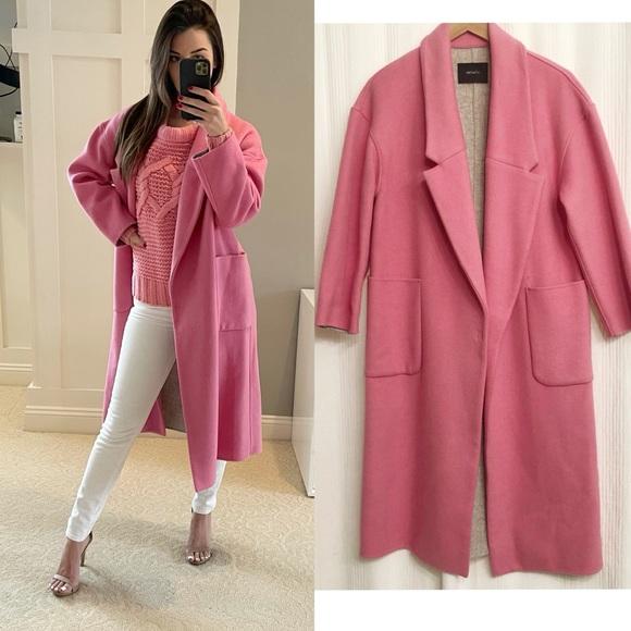 Mo&CO Jackets & Blazers - ✖️SOLD✖️Mo&CO. Pink Wool Oversized Pea Coat